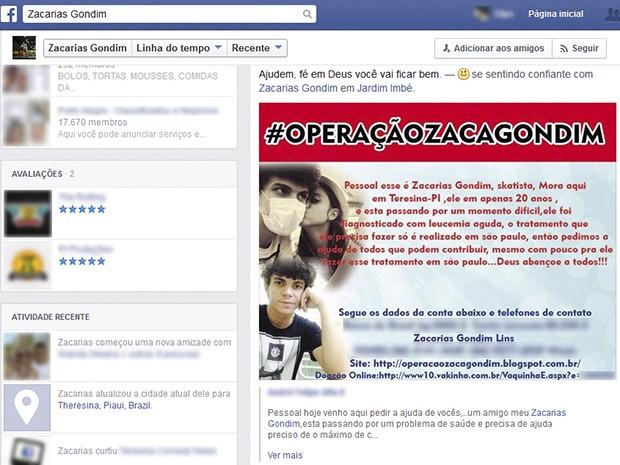 Zacarias Gondim. Foto: Reprodução/Facebook