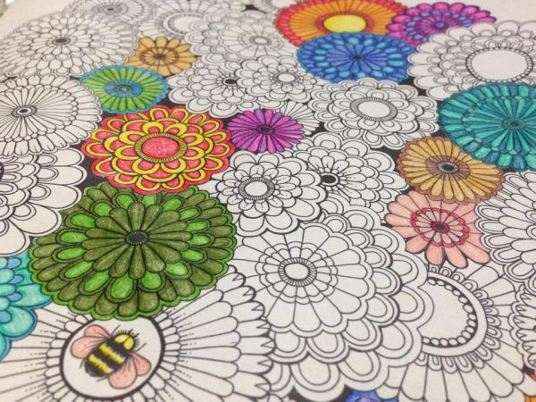 Livros de colorir para desestressar adultos